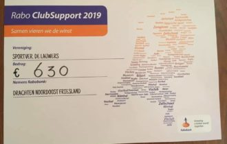 Rabo ClubSupport levert de Lauwers een mooi bedrag op
