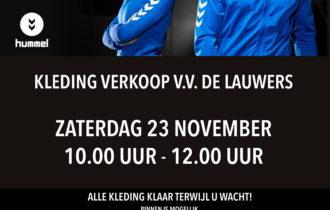 Kledingverkoop De Lauwers 23 november
