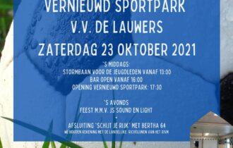 Opening vernieuwd sportpark (23-10-2021)